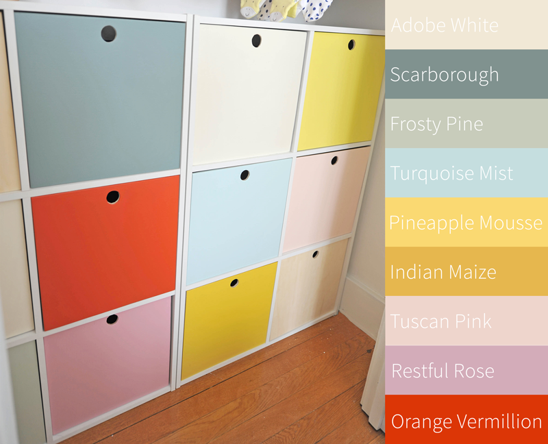 DIY Cube Nursery Closet Storage Organizer