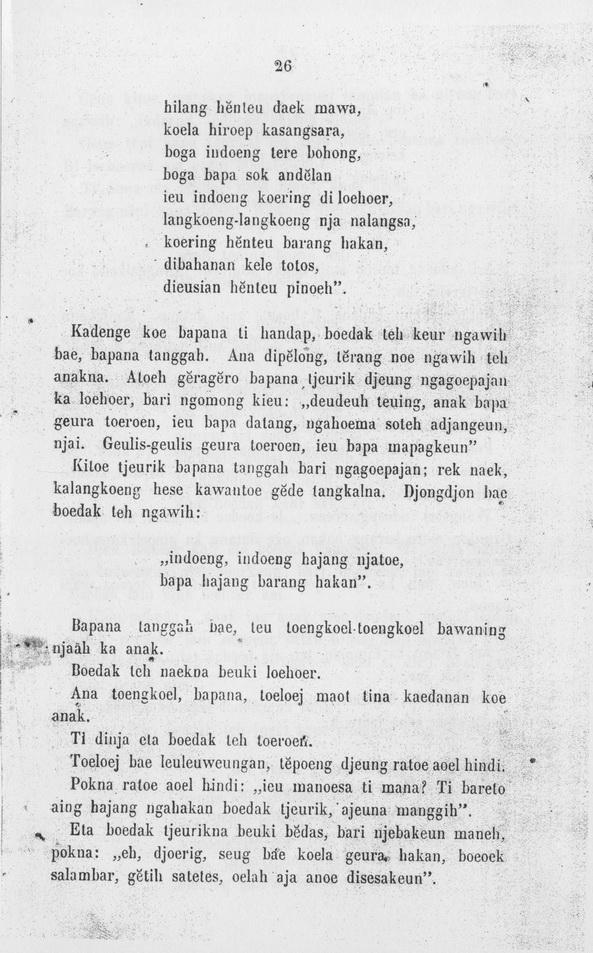 Rumah Baca Buku Sunda Dongeng Sunda Budak Sangsara
