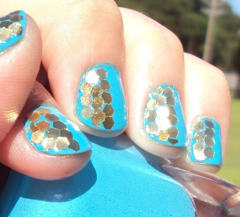 glamonthecheap: more giant glitter nails!