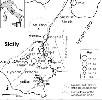 Georesearch center italy citt distrutte e rifondate il grande terremoto siciliano del 1693 - Il giardino di barbano ...