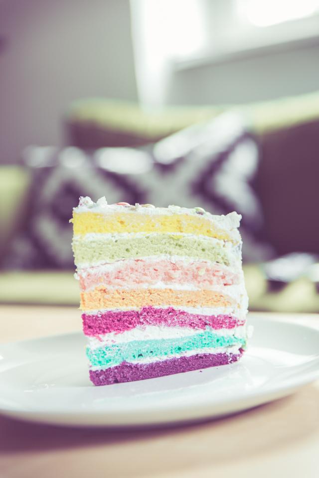 vegan, rezept, backen, Foodblog, bunt, Regenbogentorte