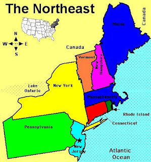 map of north east usa World Map