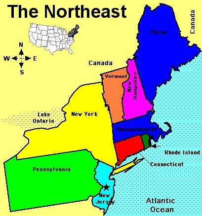 History And Culture A NORTHEAST OF USA - Northeastern usa map