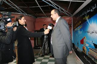 التغطية التلفزيونية لأعمال الندوة الصحفية التي قام بها السيد خالد مفيدي بالرباط