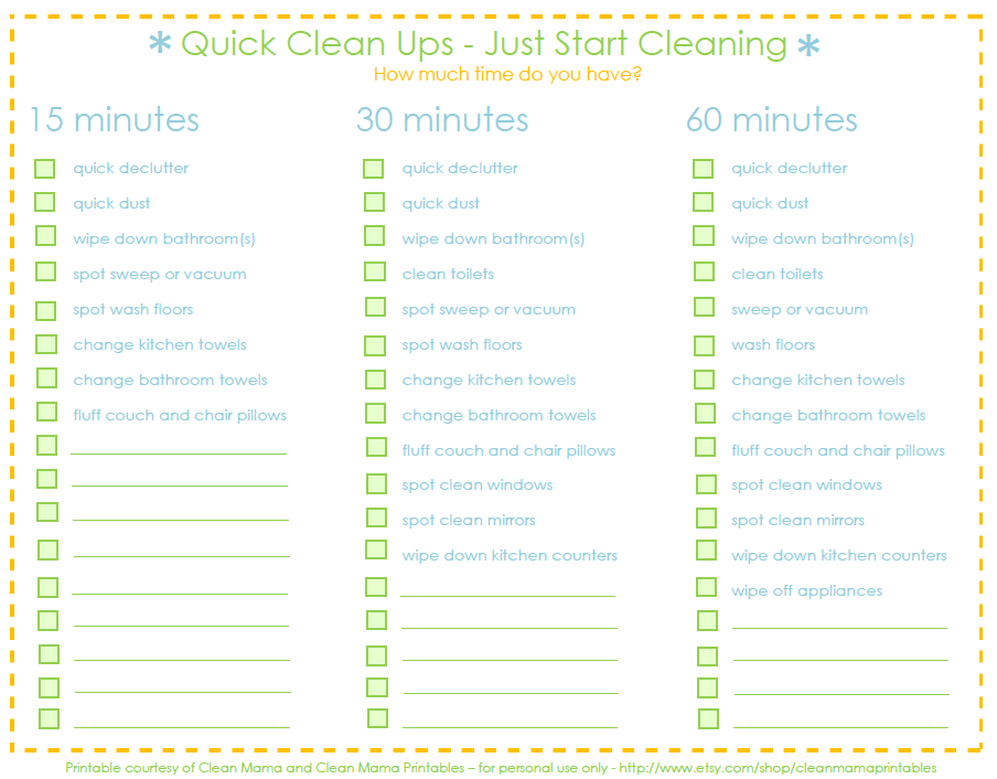 House Cleaning: Easy Printable House Cleaning Schedule