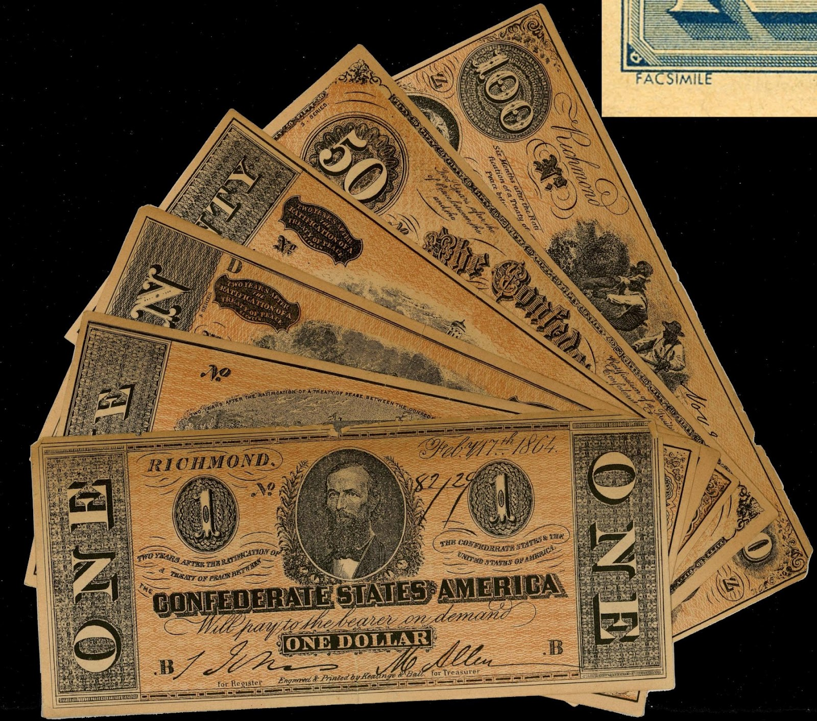 Money: Yesterday's Papers: Facsimile Confederate Money Used As