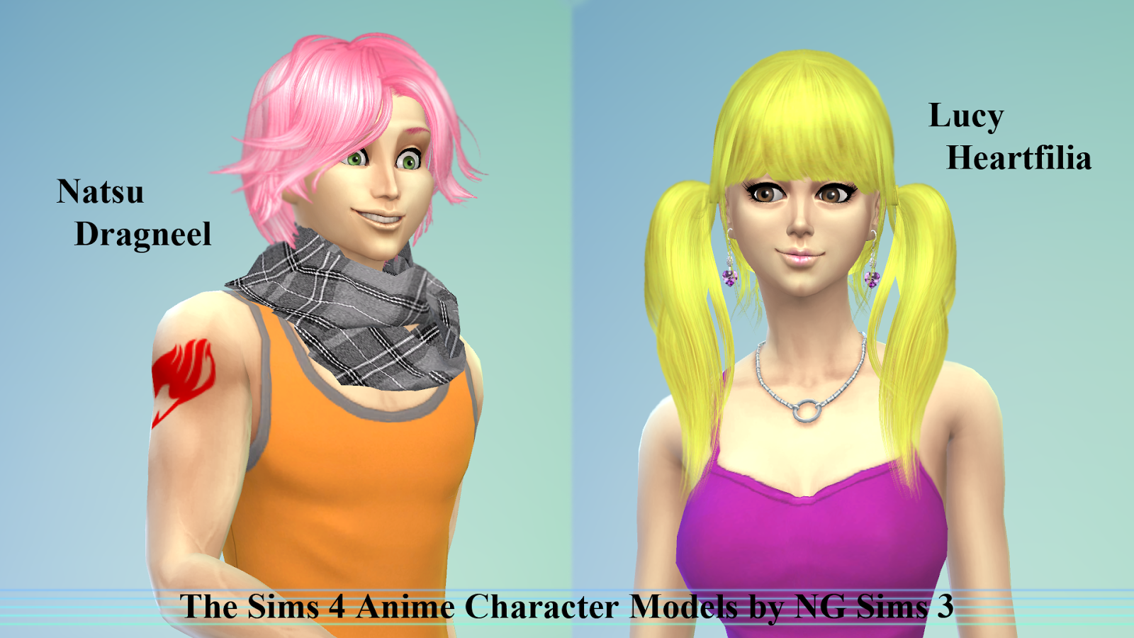Sims 4 Anime Characters Mod : Sims cc anime characters newhairstylesformen