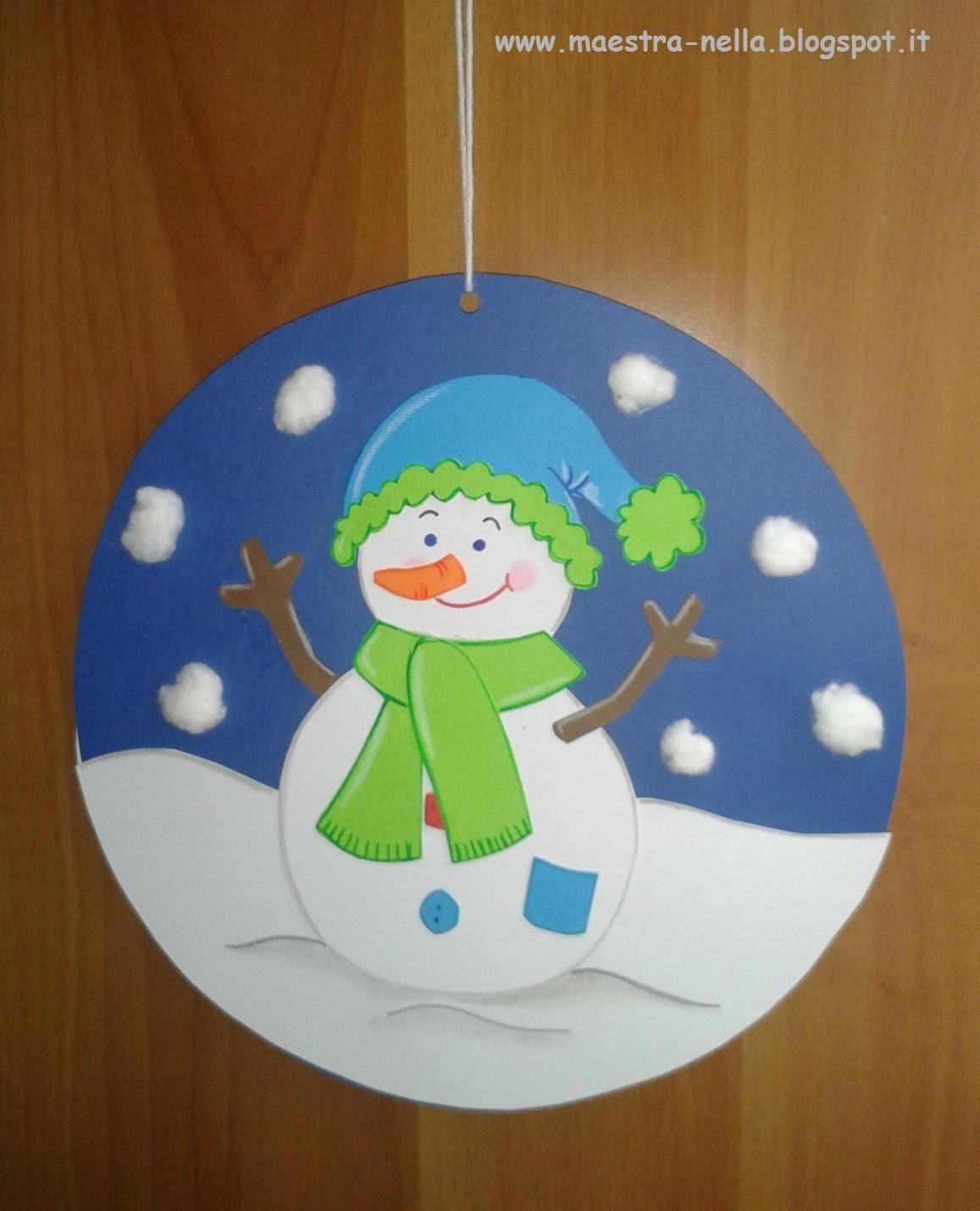 Maestra nella addobbi invernali for Addobbi scuola infanzia