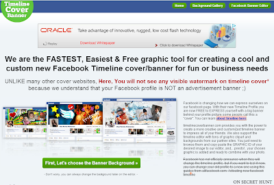 timelinecoverbannercom 5 Best Websites to Create Facebook Timeline Cover Photos