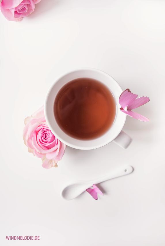 teatime rosa rose schmetterling aus Papier basteln
