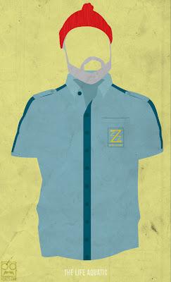 poster minimalista de the life aquatic