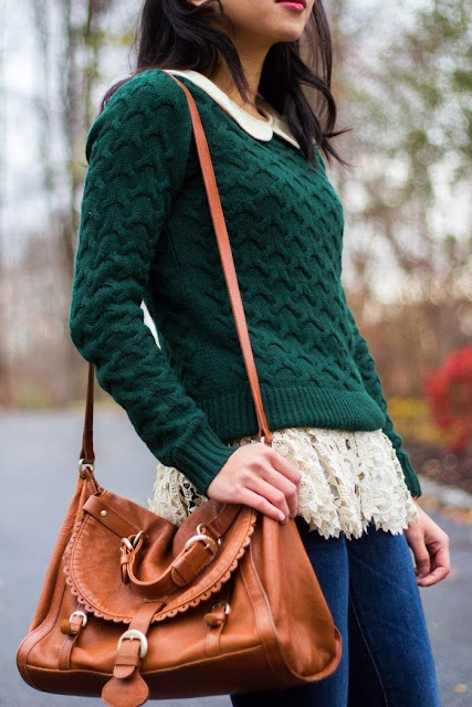 See More Pine Green Sweater