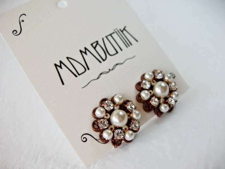 Estonia Eesti disain käsitöö ehted kõrvarõngad vintage stiilis pulma pruudi pärlitega kristallidega