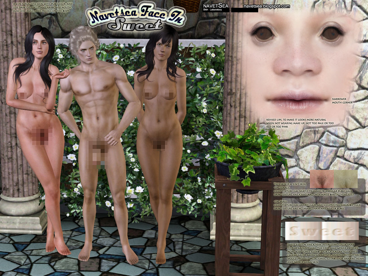 Naked skins for sims nudes comics