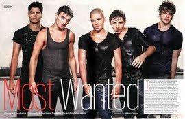 The Wanted soaking wet.. HOT!