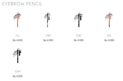 Harga dari Just Miss Eyebrow Pencil di web resmi mereka. Sangat murah.