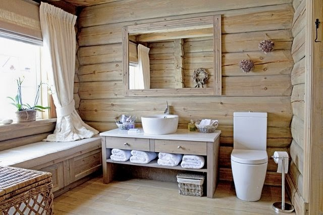 Country style bathroom tiles images for Accessoire salle de bain beige