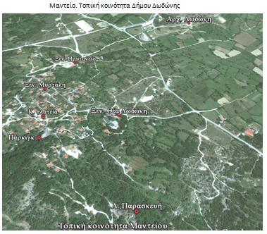 Αεροφωτογραφίες χωριού Μαντείο Δωδώνης και ορειβατικό μονοπάτι Όρος Τόμαρος (Ολύτσικα) μήκ. 3.800 μ