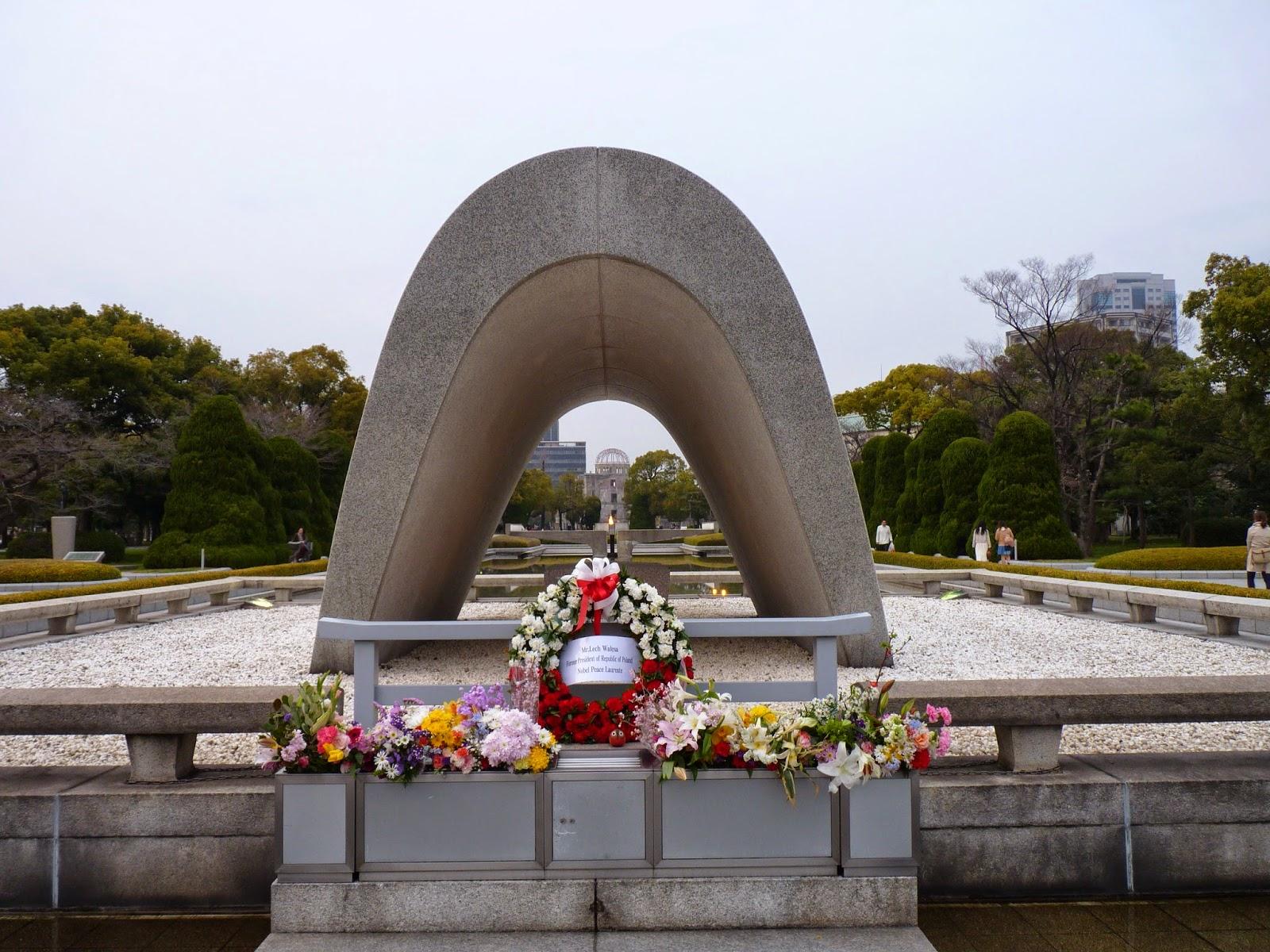 Hiroshima no Japão, parque da Paz