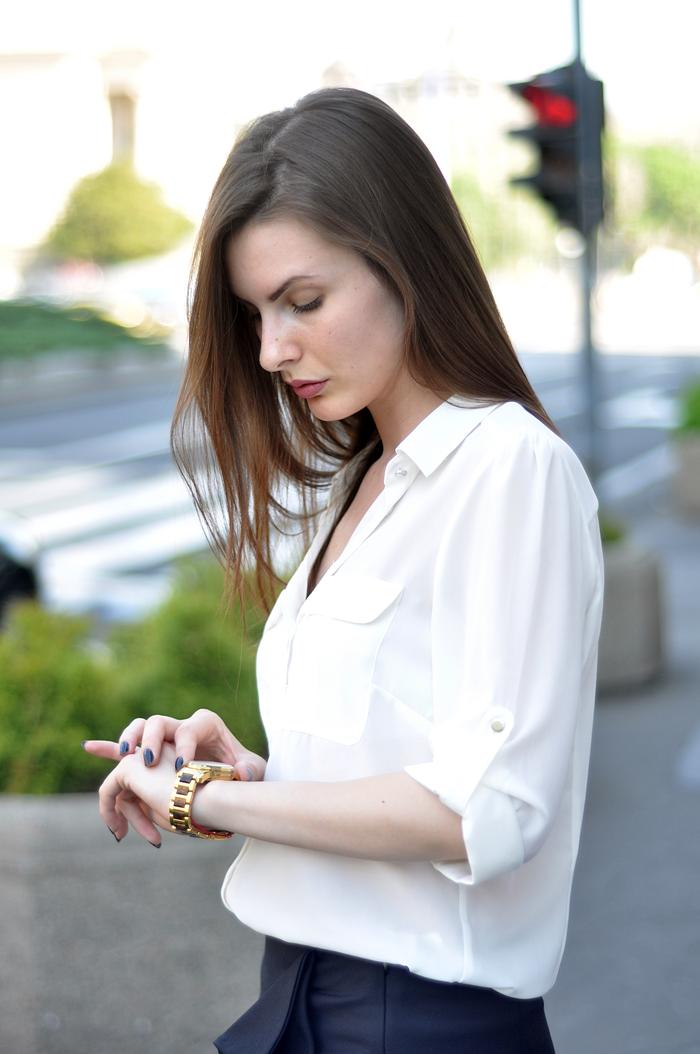aleksandra skorupan, velvet and milk blog, zara ruffle skirt, work wear, business outfit