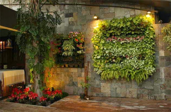 stone walls and green trees | Manufacturers Outdoor Furniture