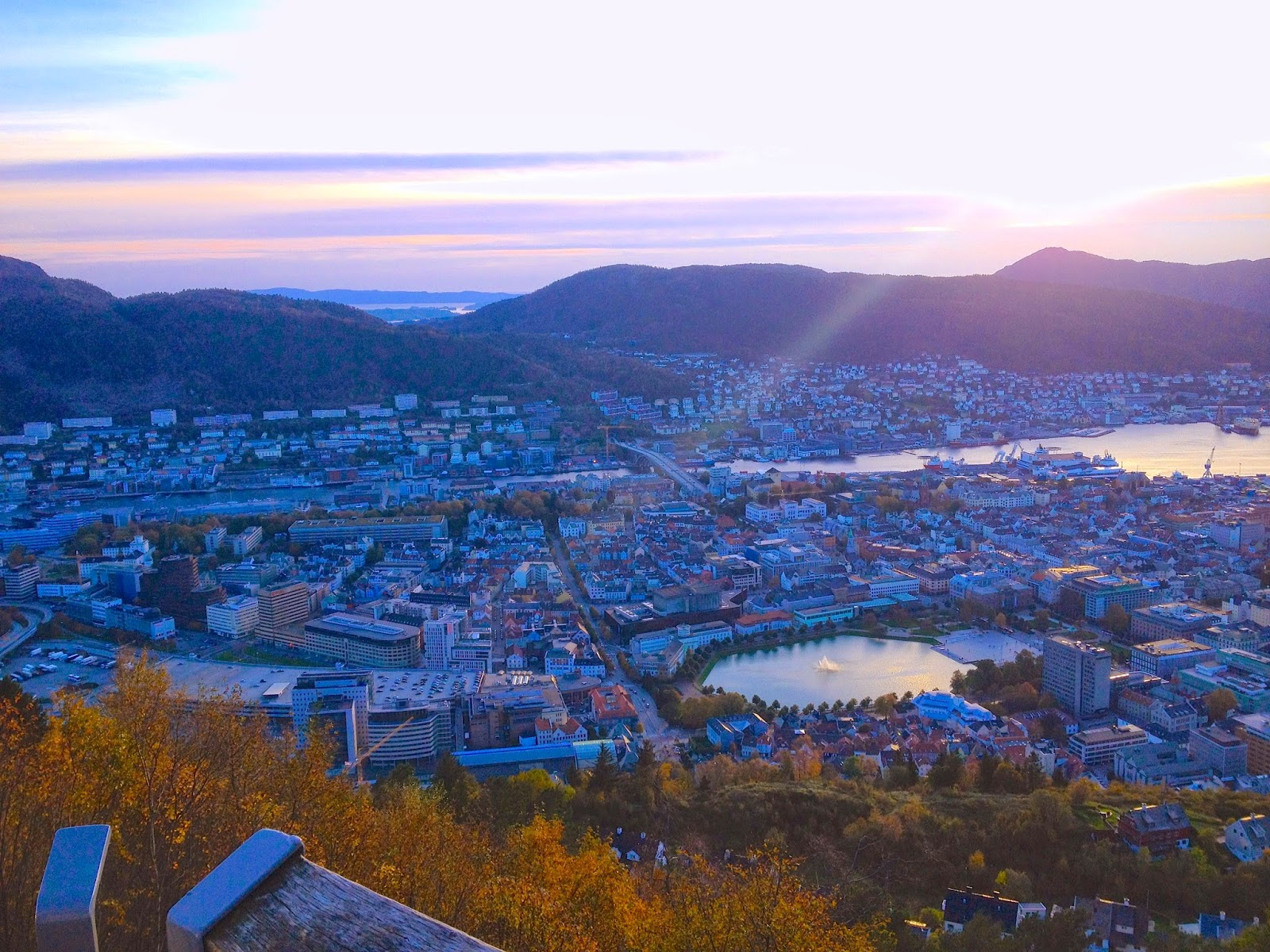 sunset in Bergen, Norway