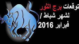 توقعات برج الثور لشهر شباط / فبراير 2016