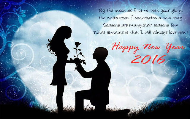 Happy New Year 2016 Image Wishes for Girl Friend