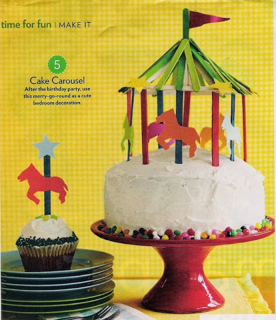 Parents magazine popsicle carousel cake topper