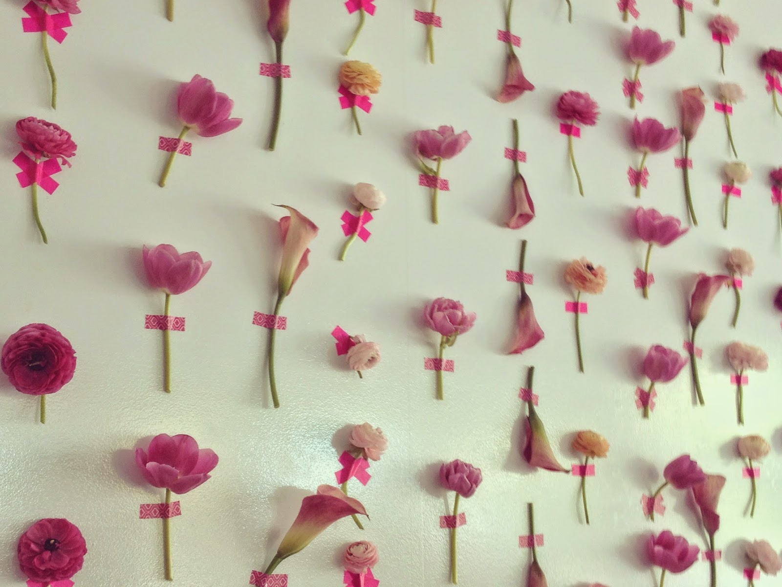 Fresh Flower Washi Tape Wall