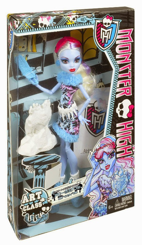 TOYS : JUGUETES - MONSTER HIGH Art Class  Clase de Arte - Abbey Bominable | Muñeca | Doll  Producto Oficial 2013 | Mattel BDF13 | A partir de 6 años