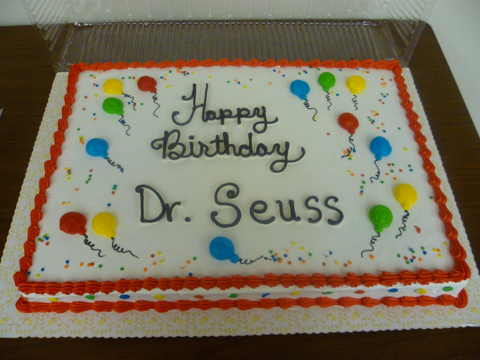 Kids Bibliotheque Dr Seuss Party