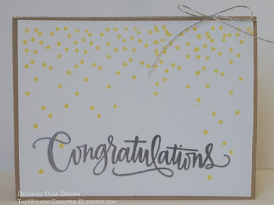 Wedding anniversary celebration card with embossed Congratulations sentiment CTD377