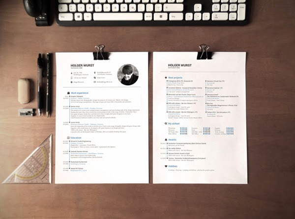 Download CV Mockup Gratis - CV MOCKUP TEMPLATE BY HOLGER WURST