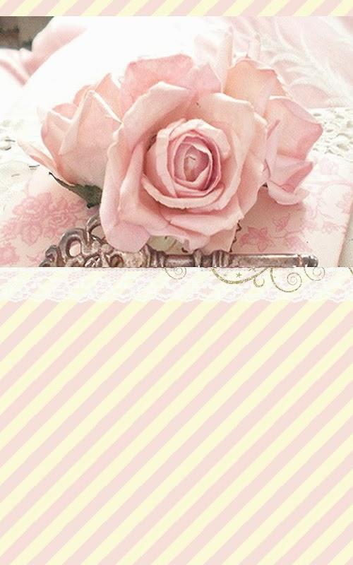 LOve Pink Rose Vintage Wallpaper