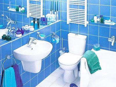 Bricolage e decora o ideias para uma casa de banho wc for Bathroom color ideas blue