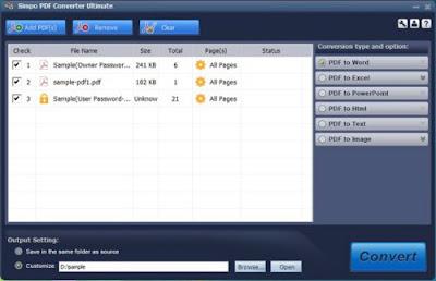 Simpo PDF Converter Ultimate 1.5.1.0