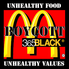 Boycott 365Black at McDonald&#39;s