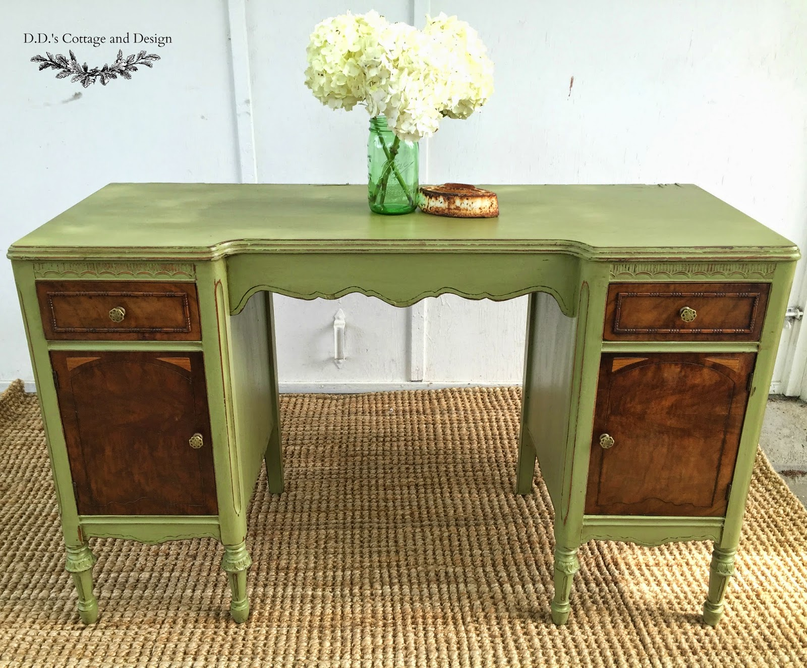 D.D.'s Cottage and Design: Green Desk