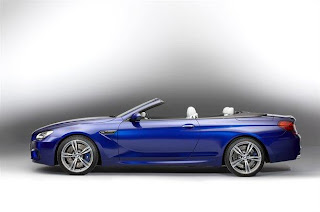 NEW BMW M6 BLUE SIDE VIEW OPEN TOP