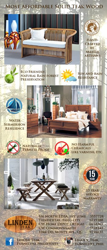 Aside From The Eye Catching Design, There Are Actually SEVEN Reasons Why  You Should Consider Investing In Linden Teak Furniture For Your Home.