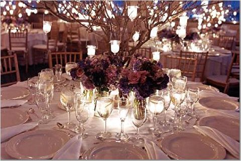 Winter Wedding Reception Centerpieces
