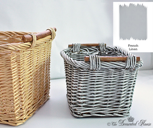 Annie Sloan Chalk Paint : Basket Makeover :: by The Decorated House