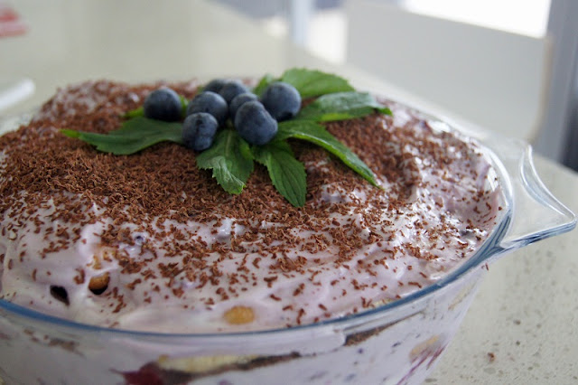 DSC06677 - Festive Low Fat Yoghurt Berry Tiramisu