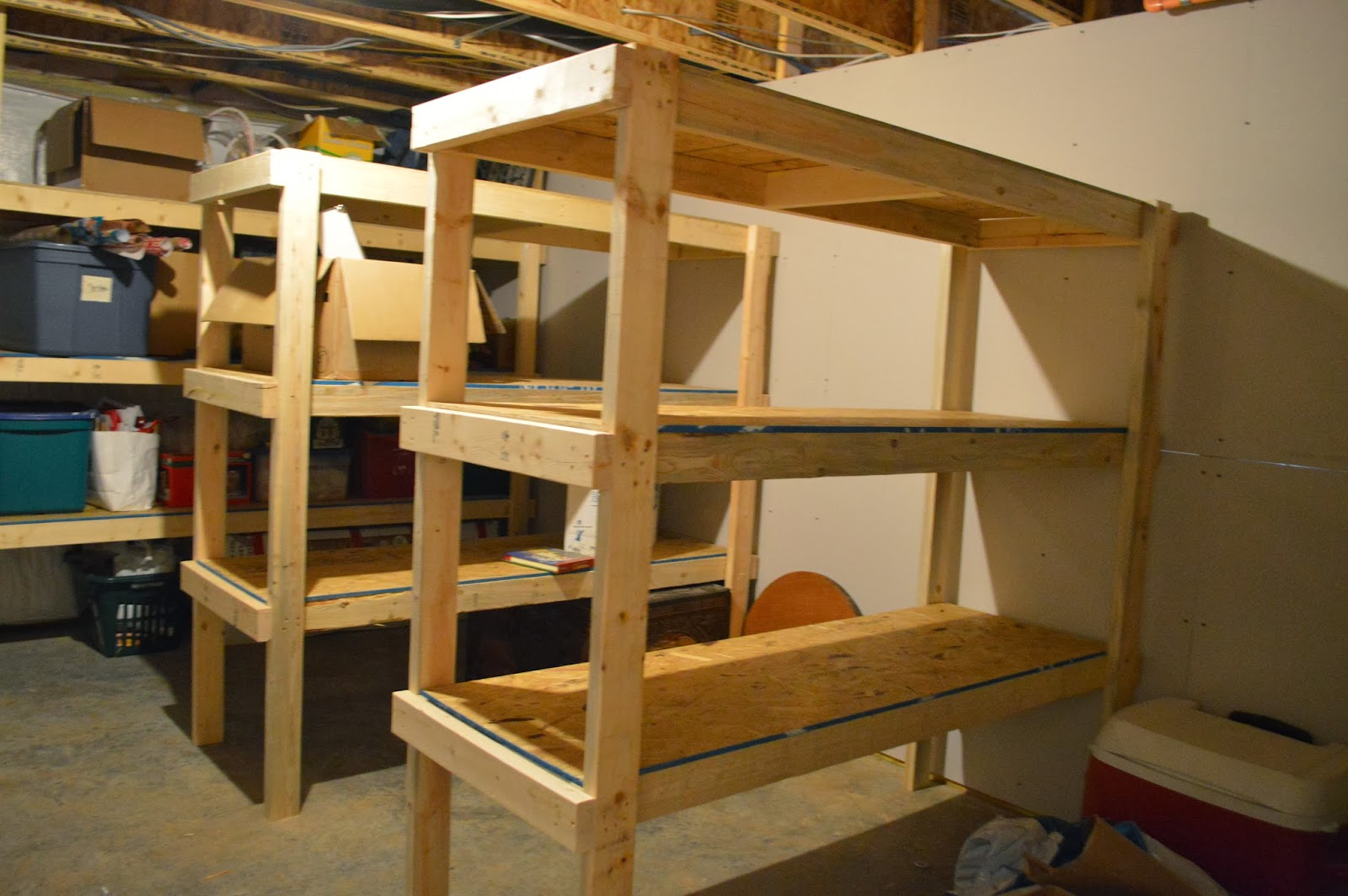 ... alley: Our Unfinished Basement Tour And How We Built Storage Shelves
