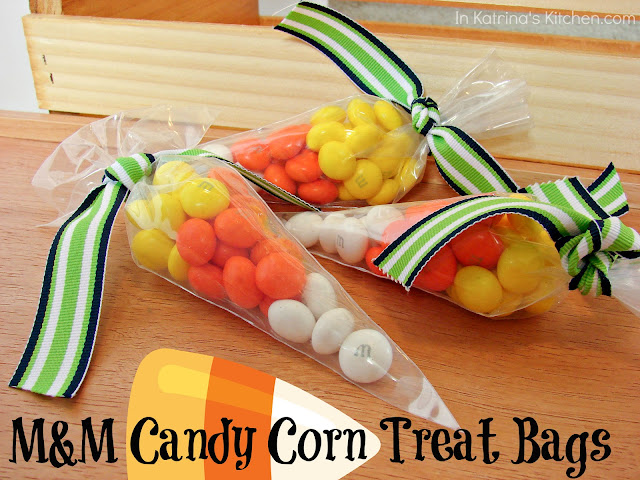 Easy Candy Corn Treat Bags @katrinaskitchen