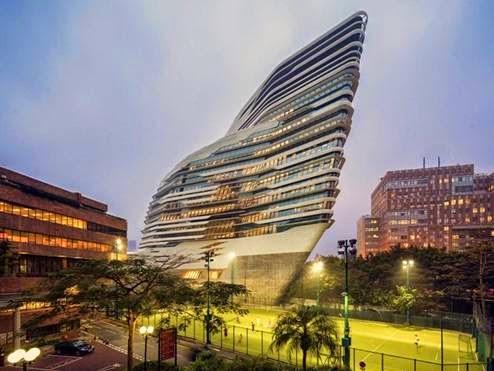 Tháp Jockey Club tại Hong Kong -Kiến trúc sư Zaha Hadid thiết kế (lọt danh sách công trình giáo dục đại học và nghiên cứu)