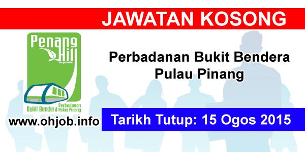 Jawatan Kerja Kosong Perbadanan Bukit Bendera Pulau Pinang logo www.ohjob.info ogos 2015