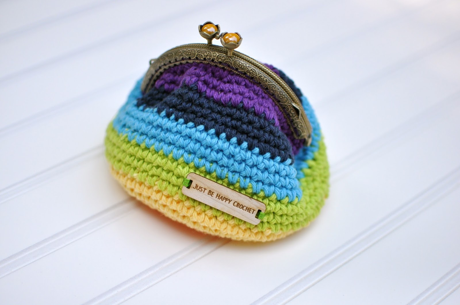 Crochet Coin Purse Pattern : Just be happy!: Coin Purse {Free Pattern}