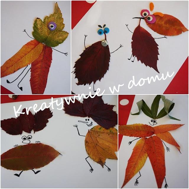 zabawa z liśćmi